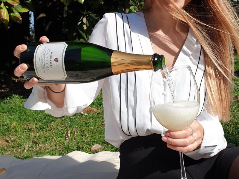 Spumante metodo classico: Cristina, il vino della cantina Berioli.